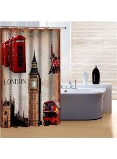 Classic London Big Ben 3D Shower Curtain