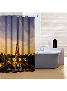 Charming Attractive Eiffel Tower 3D Shower Curtain