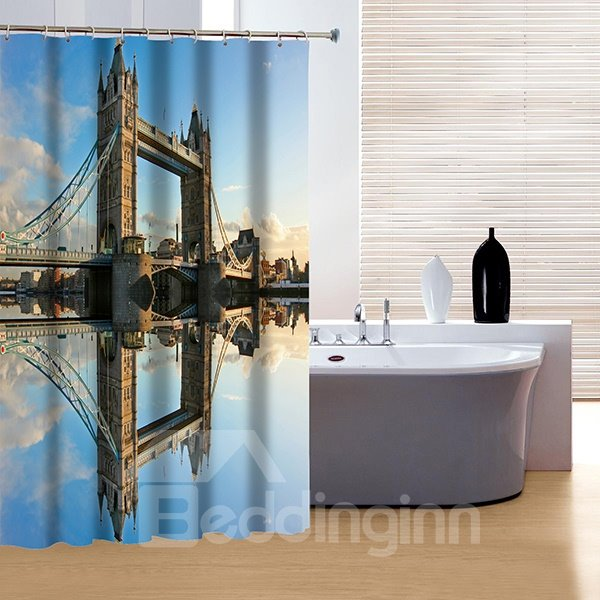 Faddish Modern London Bridge 3D Shower Curtain