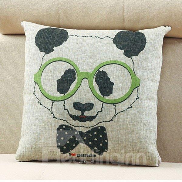Comfortable Quillow Fashion Panda Linen Blanket Car Pillow
