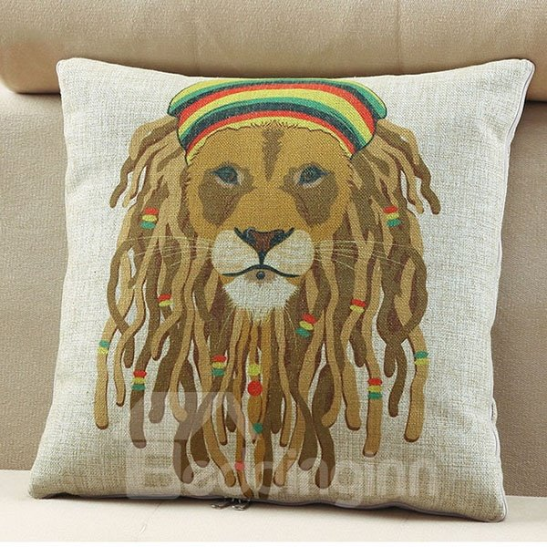 Comfortable Quillow Punk Lion Linen Blanket Car Pillow