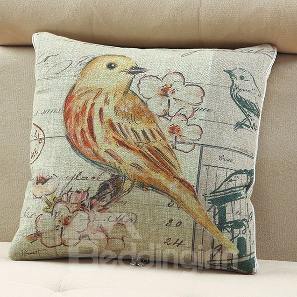 Comfortable Quillow Oriole Patterned Linen Blanket Car Pillow