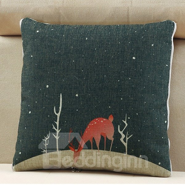 Comfortable Quillow Night Sky Patterned Linen Blanket Car Pillow