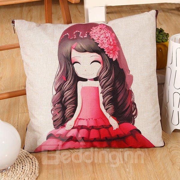 Convertable Quillow Dreamy Bride Patterned Linen Blanket Car Pillow