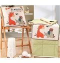 Convertable Quillow Happy Travellers Patterned Linen Blanket Car Pillow