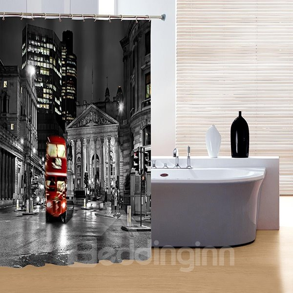 Faddish Creative New York City Night Print 3D Shower Curtain