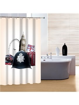 Noble Concise London Elements 3D Shower Curtain