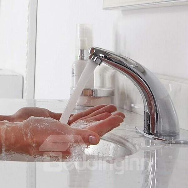 Automatic Infrared Sensor Hot-and-Cold  Bathroom Sink Faucet