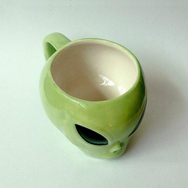 Creative Alien Design Ceramic Coffee Mug Gift Idea