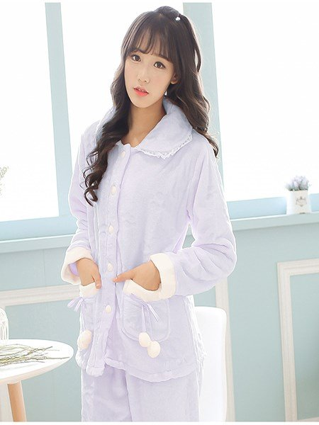 Unique Super Lovely Girlish Flannel Pajamas Sets