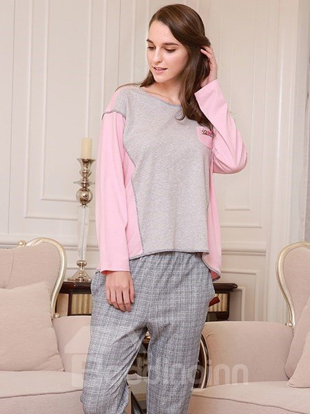 Fashion New Trend Joint Color 100% Cotton Women