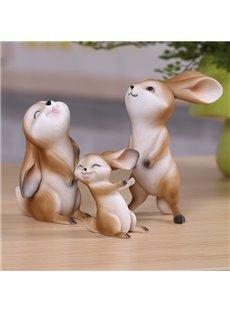 Cute Rabbit 1-Piece Resin Desktop Decoration