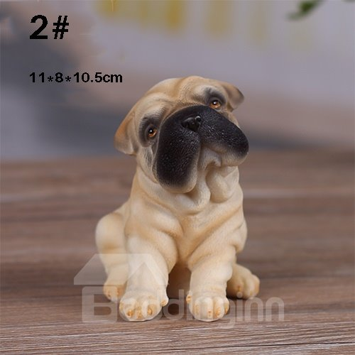 Adroable Pug Dog 1-Piece Resin Desktop Decoration