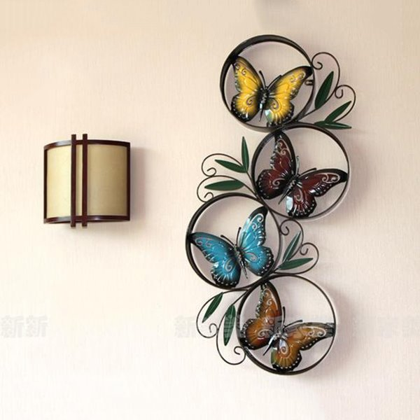 Fantastic Pastoral Butterfly Iron Artwork Wall Decoration