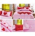 Love&Dream Heart Shape Print Pink Kids Duvet Cover Set