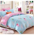 Gorgeous Pink and Green Drinks Pattern Kids Duvet Cover Set
