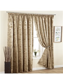 Elegant Thickening Light Blocking Pinch Pleat Curtain