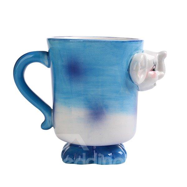 Cartoon 3D Elephant Design Ceramic Coffee Mug