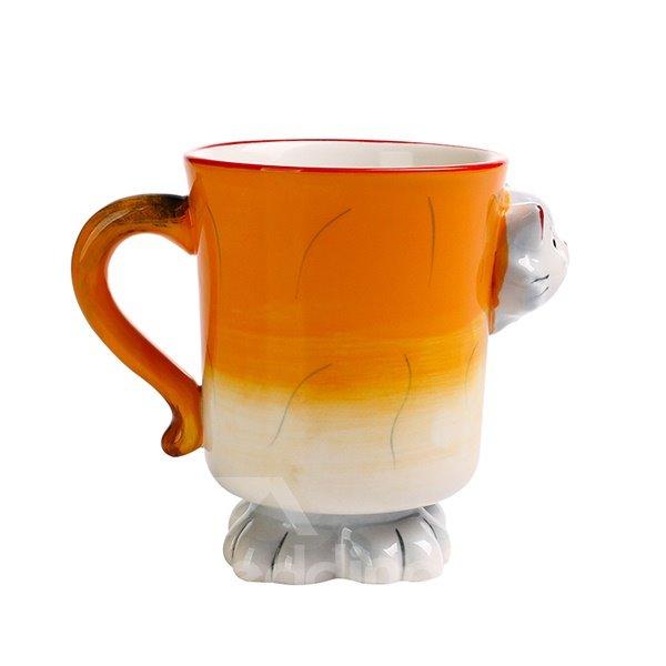 Cartoon 3D Kitten Design Ceramic Coffee Mug