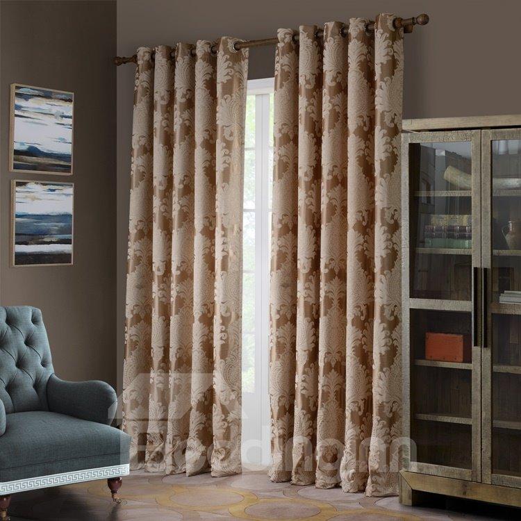 Wonderful Floral Pattern Grommet Top Curtain