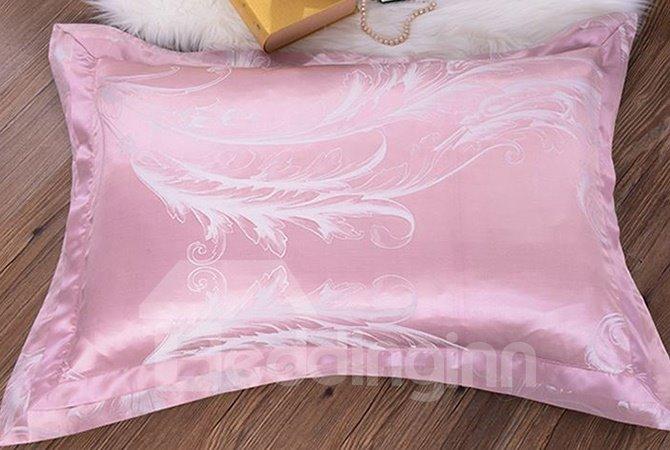Top Class Phoenix Tail Printing Mulberry Silk 4-Piece Duvet Cover Sets