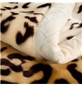 Faddish Leopard Design Full Size Super Warm Raschel Blanket