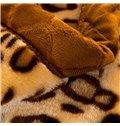 Fashion Leopard Design Classy Soft Raschel Blanket