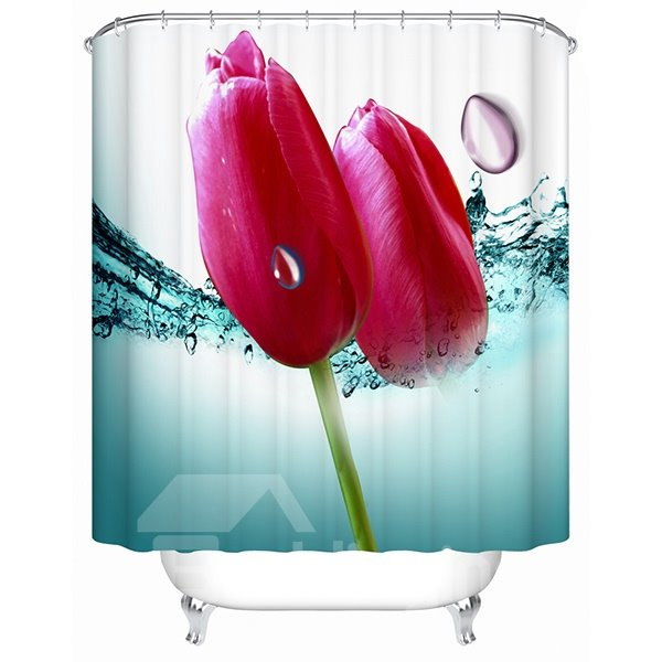 Vivid Fresh Flower Buds 3D Shower Curtain