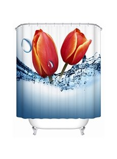 Charming Flower Buds 3D Printing Shower Curtain