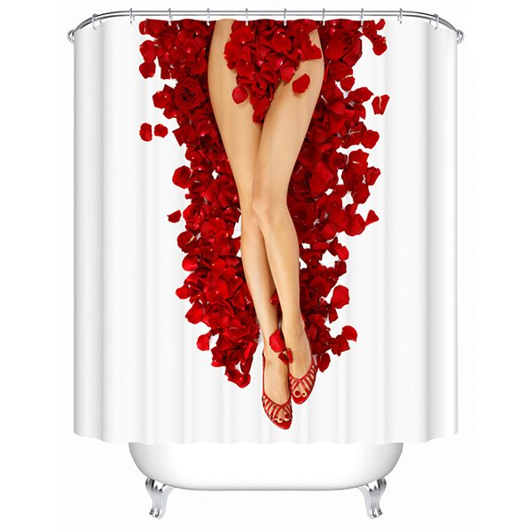 New Style Performance Art Sexy Lady 3D Shower Curtain
