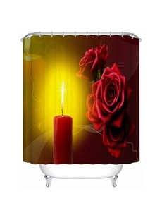 Romantic Candles and Charming Roses 3D Shower Curtain