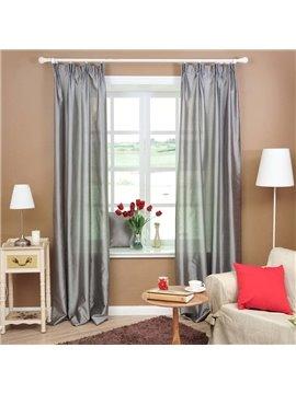 Graceful Light Grey Double Pinch Pleat Curtain