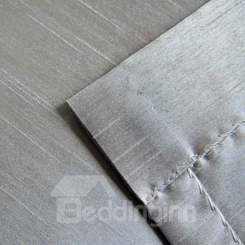 Graceful Light Grey Double Pinch Pleat Curtain