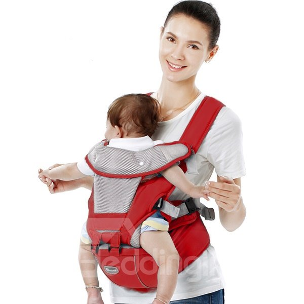Bouncy Red Multi-Functional Baby Hip Seat Carrier