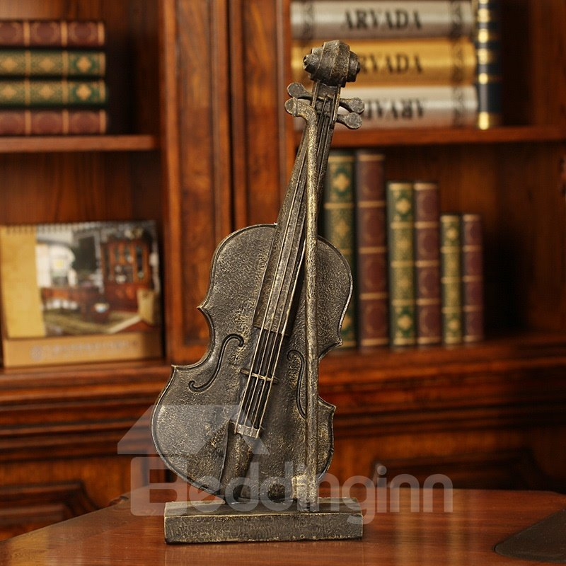 Vintage Violin Model Resin Desktop Decoration