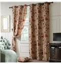Top Quality Elegant Floral Grommet Top Curtain