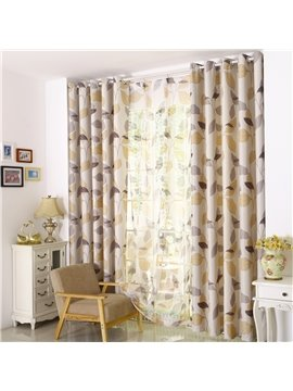 Modern High Shading Degree Grommet Top Curtain