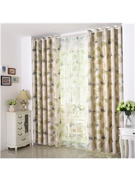Modern High Quality Pastoral Style Grommet Top Curtain