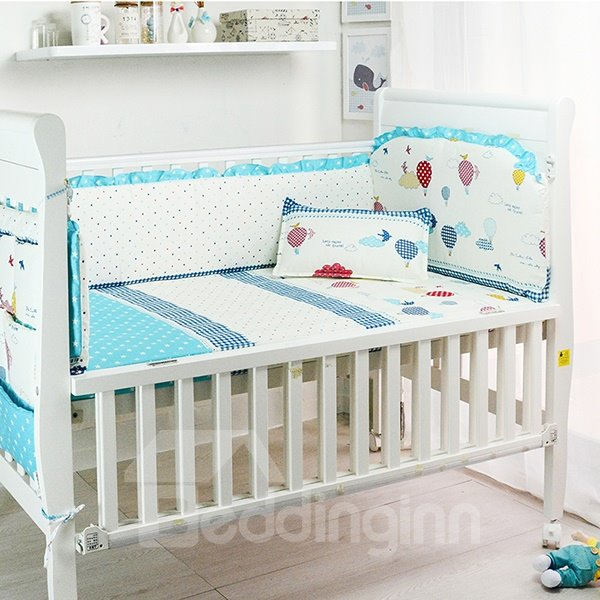 Traveling and Flying Theme 10-Piece Crib Bedding Sets