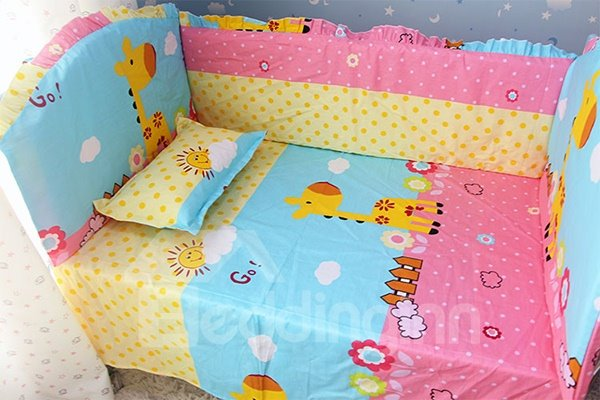Happy Sunshine Deer 10-Piece Crib Bedding Sets