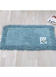Contemporary Home Decor Solid Color Bath Rug
