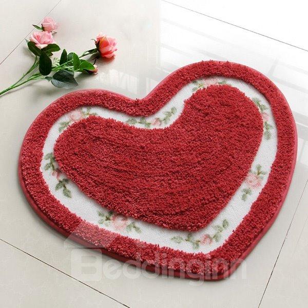 Modern Unique Style Heart-shaped Bath Rug