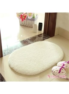Modern Style Concise Solid Color Ultra-soft Bath Rug
