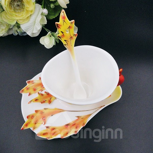 Stunning 3D Phoenix Design Ceramic Coffee Cup