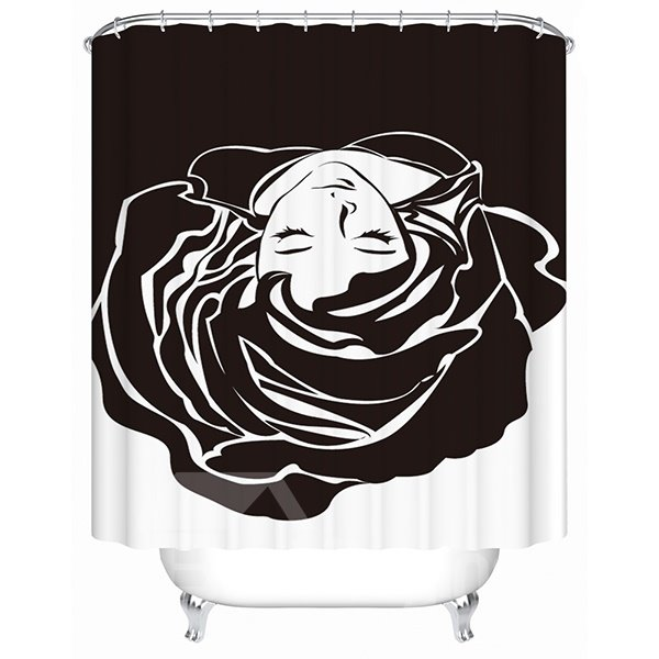 Creative Design Graceful Flower Girl 3D Shower Curtain