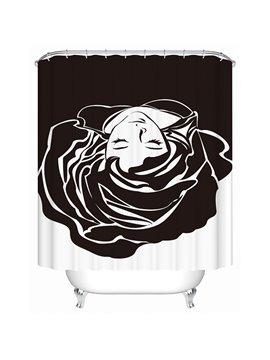 Creative Design Graceful Flower Girl 3D Shower Curtain