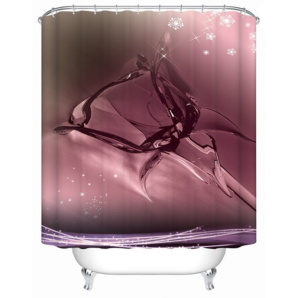 66 Innovative Design Flower Shaped Water Pattern Red Wine Color