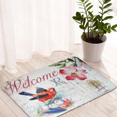 Wonderful Bird Nest Pattern Welcome Anti-Slipping Doormat
