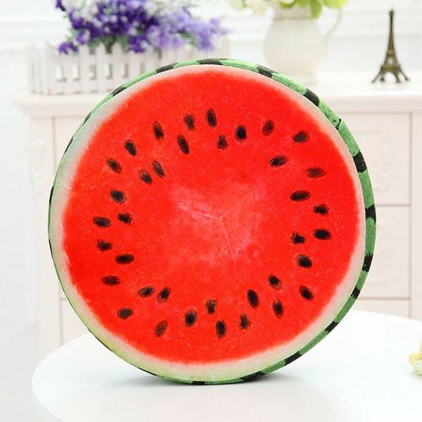 Creative Delicious Watermelon Design Soft Throw Pillow