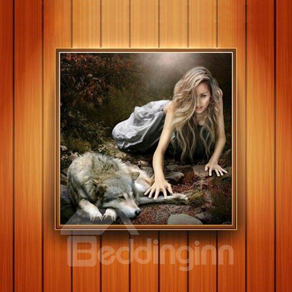 Fabulous Beauty and Wolf DIY Diamond Sticker